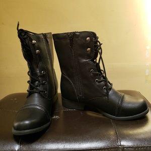 American Rag Shoes - American Rag Fionn Closed Toe Mid-Calf Combat boot